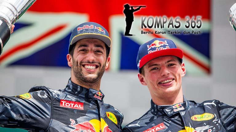 RedBull Yakin Bisa tanggani Persaingan antara Ricciardo dengan Verstappen