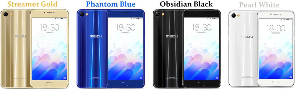 Warna Smartphone Meizu M3X