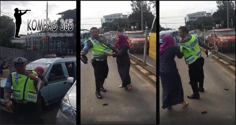 perempuan menyerang petugas